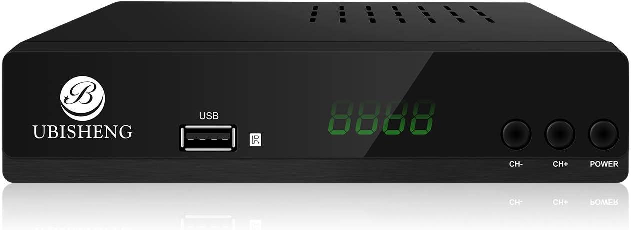 B UBISHENG Decodificador Digital Terrestre – DVB T2 / HDMI Full HD / Canales Sintonizador / Receptor TV / PVR / H.265 HEVC / USB / Decoder / DVB-T2 / TNT / TDT Television / 4K