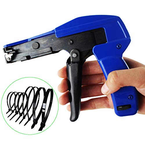 (Cable Tie Gun,Knoweasy Fastening Cable Tie Tool,Die-Cast Steel Flush Cut Point Zip Tie Gun with Steel Handle for Nylon Cable Tie,7