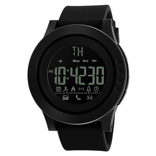 Morrivoe Bluetooth 4 0 Sport Pedometer Healthy Sleep Monitor Waterproof  Night Visible Smart Watch Built-in Battery,NO Need Charging,Smart Bracelet  for
