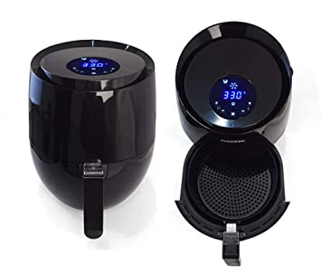 SLONG Freidora de Aire, para Alimentos fritos saludables, Gran Capacidad 3500ML, Pantalla táctil, Negro: Amazon.es: Hogar