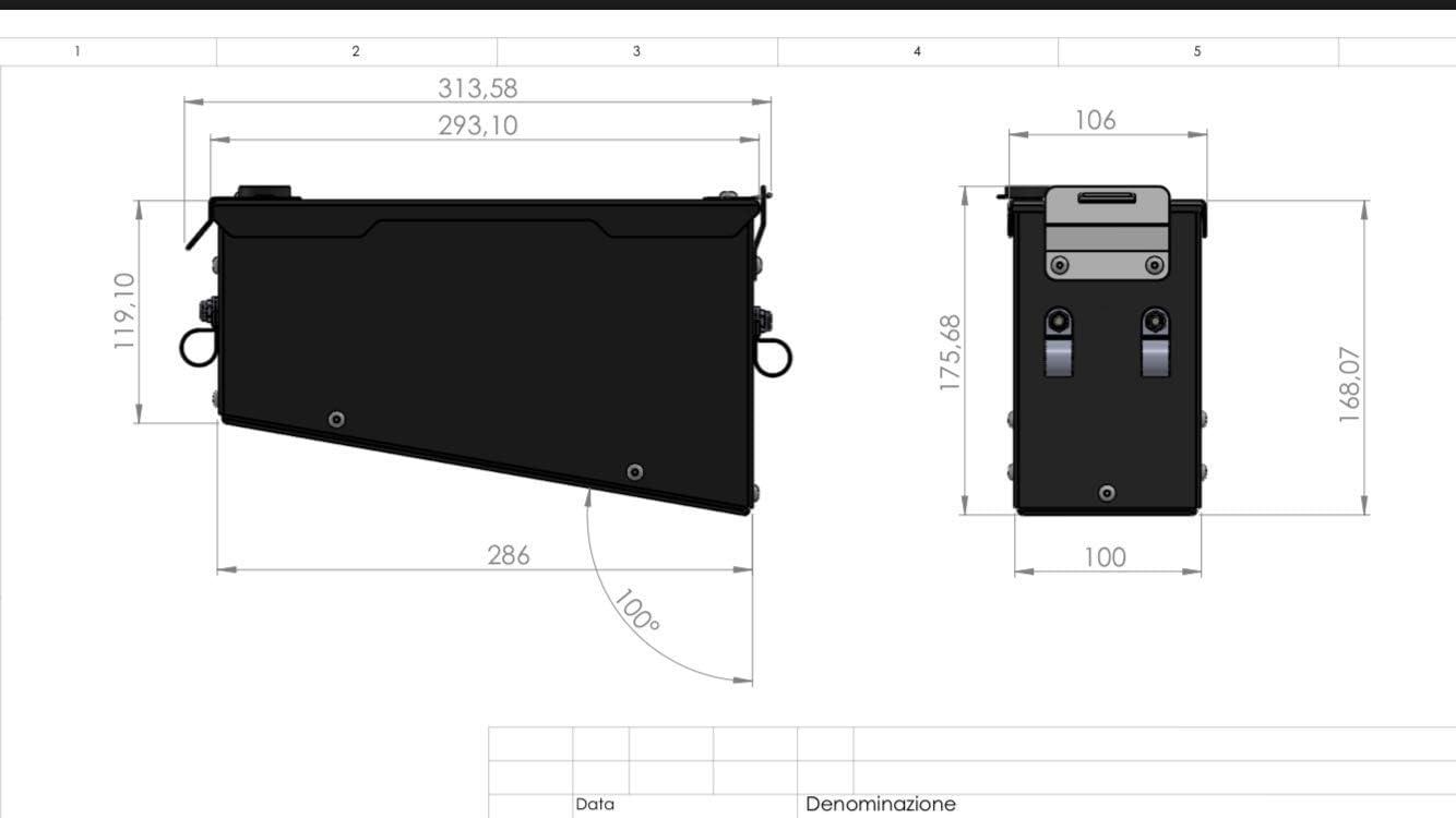 MyTech 1050//1090//1190 Adventure Werkzeugkoffer aus schwarz lackiertem Aluminium 3,6 Liter nur f/ür Original-Lagerhalter 1290 Superadventure
