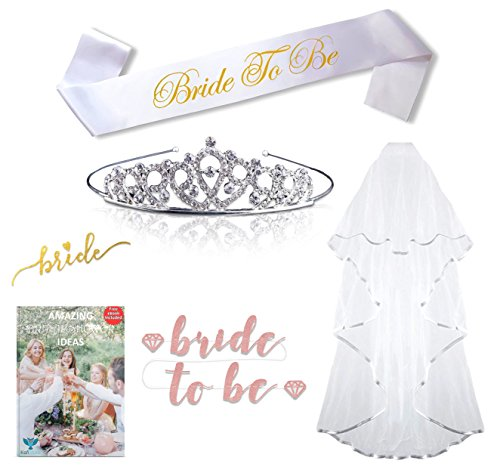 Bachelorette Party Decorations Bridal Shower Decor Supplies For Women Pink & Gold Free ebook Game & Invitation Ideas Set