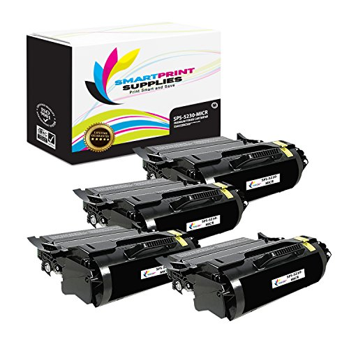 Smart Print Supplies Compatible 330-6968 330-6991 MICR Black Toner Cartridge Replacement for Dell 5230 5350F362T Printers (21,000 Pages) - 4 Pack