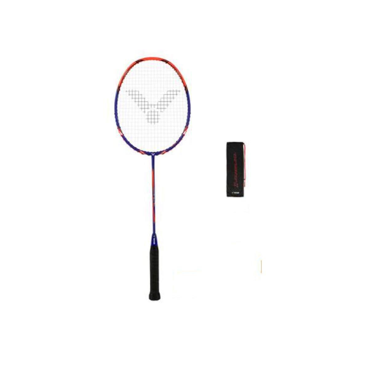Tongboshi Badminton Racket, Training Level, Offensive, Carbon Fiber Badminton Racket, (deep Blue) Badminton Racket, (Color : Blue)