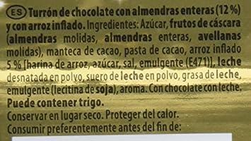 Suchard Turrón de Chocolate Leche con Almendras enteras y Arroz Inflado - 260 g: Amazon.es: Amazon Pantry