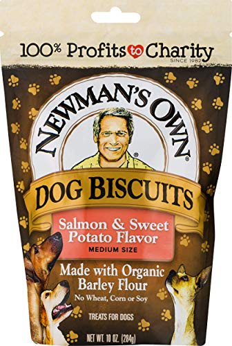 Newman's Own Dog Biscuits, Salmon & Sweet Potato - Breakable, 10-oz. (Pack of 6)