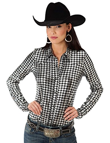 Shiny Houndstooth Print Five Star- Retro Pop (3x) (Roper Retro Shirt)