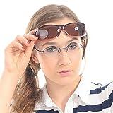 Duco Sunglasses for Men Over Glasses Sunglasses for Women Polarized Sunglasses 8954 (L Size Wine Red Frame Brown Lens)