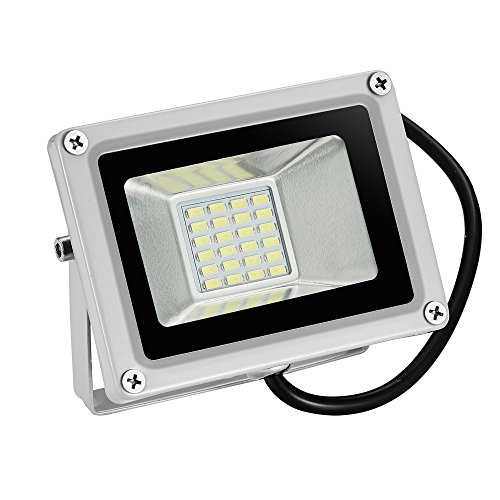 Festnight 20W LED Flood Light IP65 Waterproof Outdoor Super Bright Security Lights Work Daylight Cool White Landscape Wall Lights for Garden Garage Lawn Yard Party 12V
