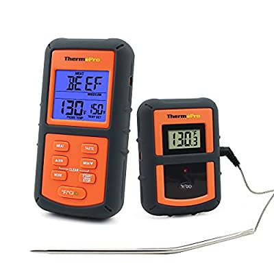 ThermoPro TP07 Wireless Remote Digital Cooking Food Meat Thermometer for Grilling Oven Kitchen Smoker BBQ Grill Thermometer with Probe, 300 Feet Range by ThermoPro