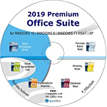Office Suite 2019 Alternative to Microsoft Office Home Student and Business Compatible with Word, Excel and PowerPoint for Windows 10, 8.1 8 7 Vista XP by Apache OpenOfficeTM Limited Time Promotion!!
