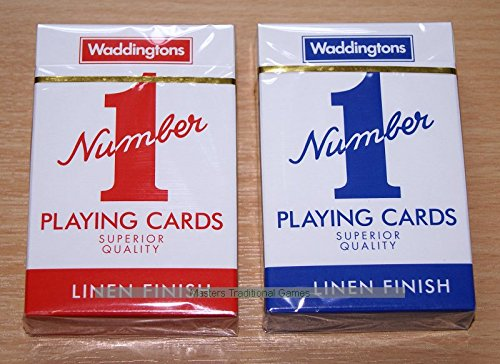 Waddingtons No. 1 Pair of Playing Cards (1 red, 1 blue)