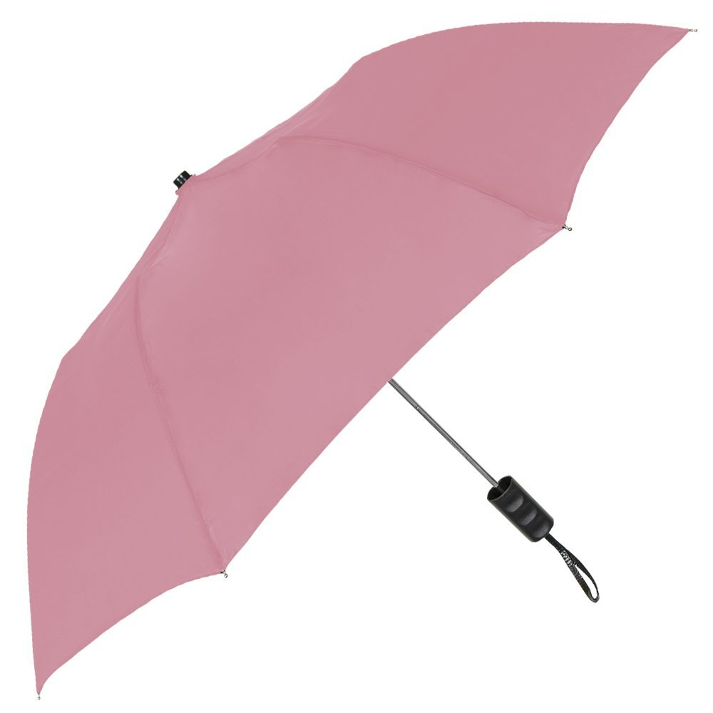 StrombergBrand''The Spectrum'' Popular Compact Umbrella; Automatic Opening, Portable, Lightweight Umbrella; Easy Carrying Folding Umbrella for men and women, Pink