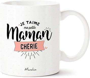 Mug Maman Je Taime Ma Petite Maman Chérie Manahia Imprimé En France Cadeau Fete Des Mères Cadeau Pour Maman Cadeau Maman Tasse
