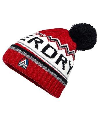 e6666979543 Superdry Men s Beanie Bobble Hat Chevron Logo Knit Beanie One Size ...