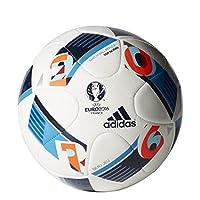 adidas Herren Ball EURO 2016 Top Glider, White/Bright Blue/Night Indigo, 5,...