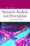 Syntactic Analysis and Description : A Constructional Approach, Lockwood, David G. and Lockwood, David, 0826455212