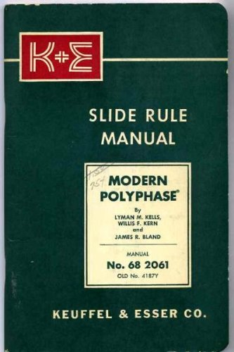 Keuffel & Esser K+E Modern Polyphase Slide Rule Manual No. 68 2061 ()