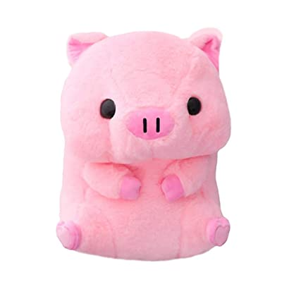 40cm Lovely Fat Round Pig Plush Toys Stuffed Cute Animals Dolls Baby Piggy Kids Appease Pillow for Girls Birthday (Color : Pink): Home & Kitchen