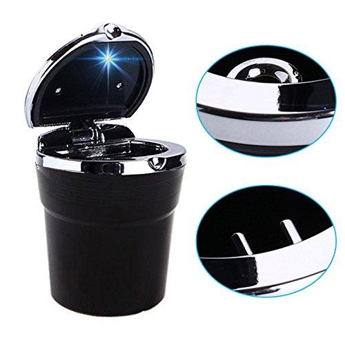 Posacenere per auto coperchio nero fluorescente KOGU 4 pezzi