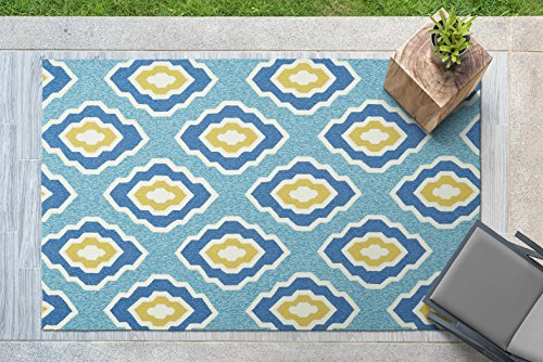 (Kaleen Rugs Escape Indoor/Outdoor Rug, Blue, 9' x 12')