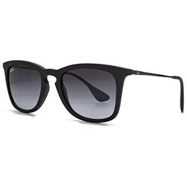 628a9905c85 Ray-Ban Keyhole Wayfarer Sunglasses in Black Rubber RB4221 622 8G 50 ...