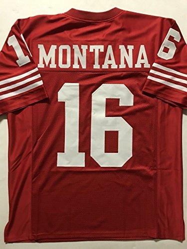 Unsigned Joe Montana San Francisco Red Custom Stitched Football Jersey Size XL New No (Joe Montana Football Jersey)