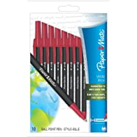 Deals on Paper Mate Write Bros. Recycled Ballpoint 10 Red Ink Pens