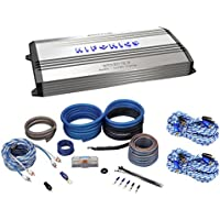 Package: Hifonics Brutus BRX5016.5D 1200 Watt RMS Class D Mono Block Car Amplifier + Rockville RWK4CU 100% Copper Full-Spec 4 AWG Complete Car Amplifier Installation Kit + Rockville RTR172 17 Foot 100% Copper 2-Channel Twisted Pair RCA Cables