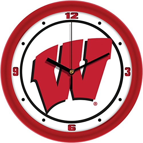 Wisconsin Wall Clock Badgers - SunTime NCAA Wisconsin Badgers Traditional Wall Clock