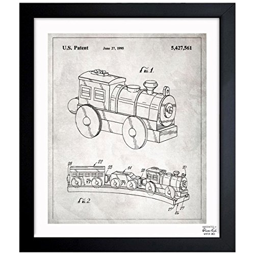 - Toy Train, 1995' Vintage Framed Wall Art Print for Home Decor & Office. The Toys Wall Decor Blueprint Collection by Oliver Gal Hand Framed and Ready to Hang. 26x32 inch
