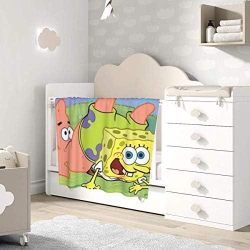 shihuainingxianruandans Couverture bébé Confort, drôle Spongebob et Patrick Couverture Chaude Douce pour bébé Nouveau-né Poussette Voyage en Plein air