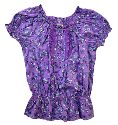 - Arizona Ruffled Shirt - Big Girls (4Y, Dewberry)