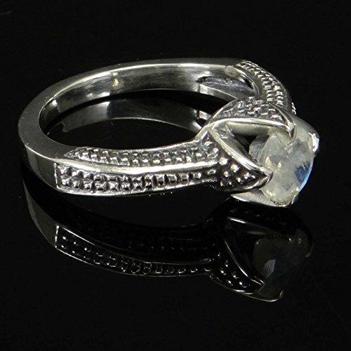 Banithani925 bague de la mode incroyable de femmes Moonstone argent bande bijoux