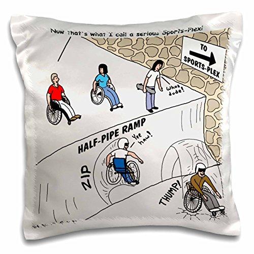 Rich Diesslins Funny General - Editorial Cartoons - Wheeler Sports-Plex - 16x16 inch Pillow Case (pc_2802_1)