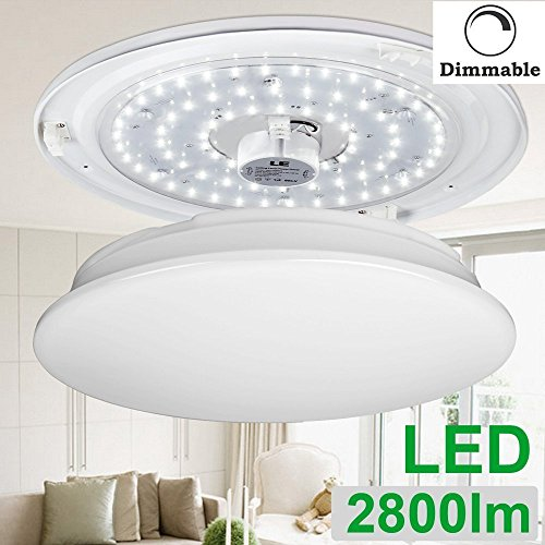 LE Dimmable 40W 19.3-Inch LED Flush Mount Ceiling Light