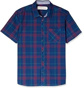 Hammersmith Men's Barrington Short Sleeve Shirt, Navy, X-Large