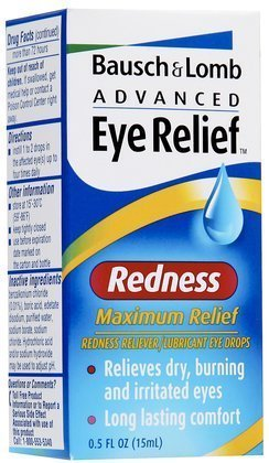 Bausch and Lomb Advanced Eye Relief Redness Maximum Relief Drops -- 0.5 oz (Quantity of 5)