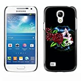 King Case - FOR Samsung Galaxy S4 Mini i9190 - Skull Devil Pattern Sugar Skull Skulls - Designed Hard Plastic Protective Case