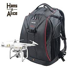 Drone Backpack Waterproof for DJI Phantom 3/Phantom 4 Drone Camera Carrying Bag with Dividers Motor Protectors and Rain Cover