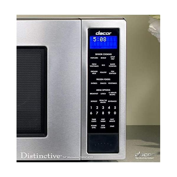 Dacor DMW2420S Distinctive Series Counter Top or Built Microwave, Stainless 3