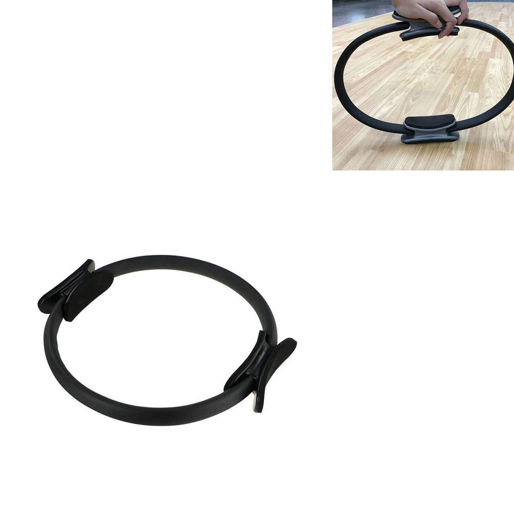 Kreative Pilates Ring Crescent Crescent Unterst/ützung Fitness Ring Double Grip Griff Widerstand K/örperfitnesstraining Ring schwarz