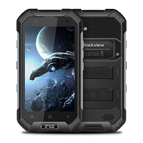 Unlocked Cell Phone, Blackview BV6000S Rugged Smartphone - 4G Android 7.0-4.7''HD IP68 Waterproof Dual SIM Phone - 4500mAh Battery 2MP+8MP - 2GB RAM+16GB ROM With NFC/GPS/SOS/GLONASS/PTT