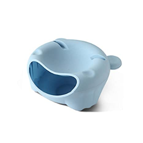 Bol de cocina para pipas color Azul plástico, plato redondo de frutos secos, caja