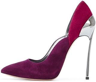 Femmes pompe 11 cm stiletto bout pointu daim robe chaussures de mariage chaussures de couleur charmant match Cour dentelle Iron Heel parti court chaussures de l'UE taille 33-45