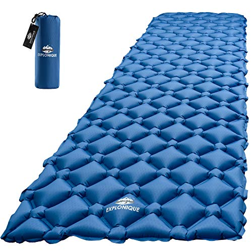 Explonique Camping Sleeping Pad - Best Inflatable Ultralight Mat for Backpacking & Hiking Traveling - Compact Lightweight Air Mattress - Insulated Camp Sleep Pads