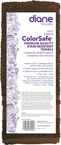 Fromm Colorsafe Towel, Chocolate, 6 Count from Fromm