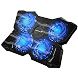 "Fosmon 4 Fan Cooling Pad for 13"" to 17-inch Gaming Laptop PS4 MacBook"