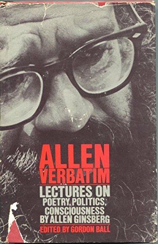 Allen Ginsberg Allen Verbatim Lectures Beat Poet Signed Autograph 1st Ed HB Book - Autographed College Magazines