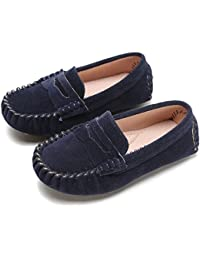 Little Kids Penny Loafers Flat Heel Slip On Toddler's Shoes For Boys & Girls Causal Comfortable